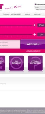 Screenshot of www.BigCredit.pl