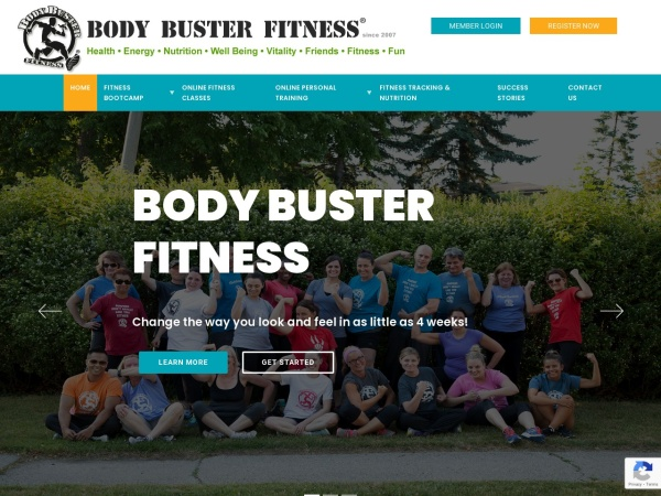 Screenshot of www.BodyBusterFitness.com