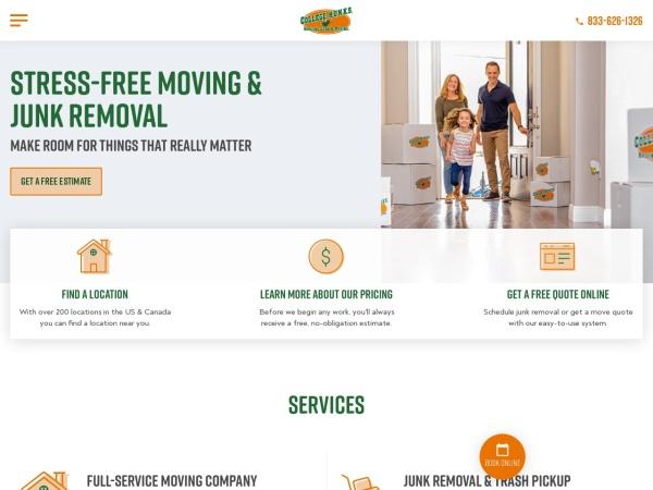 Screenshot of www.CollegeHunksHaulingJunk.com