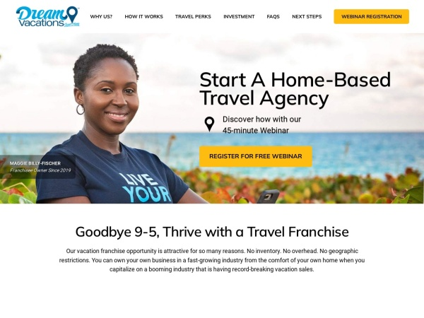 Screenshot of www.CruiseOneFranchise.com