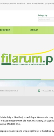 Screenshot of www.Filarum.pl