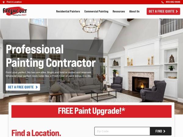 Screenshot of www.FreshCoatPainters.com