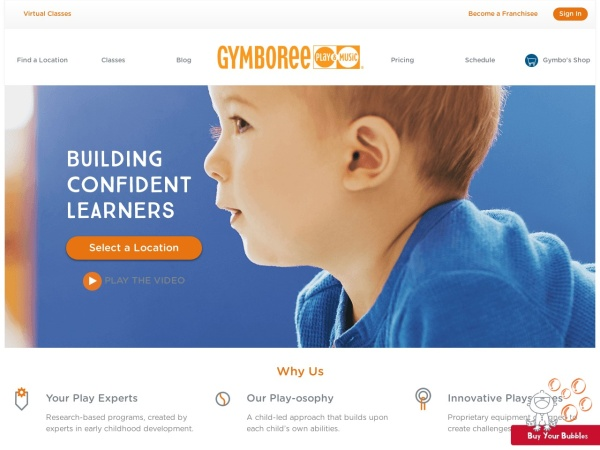 Screenshot of www.Gymboreeclasses.com