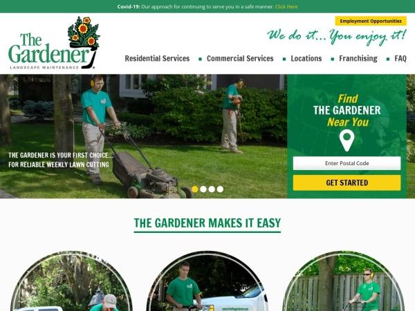 Screenshot of www.HireTheGardener.com