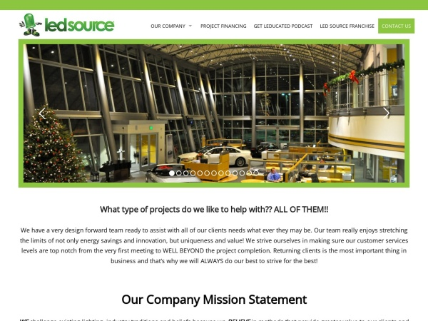 Screenshot of www.LEDsource.com