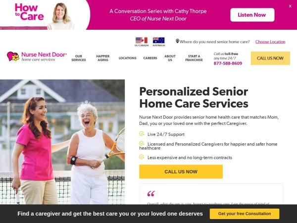 Screenshot of www.NurseNextDoor.com
