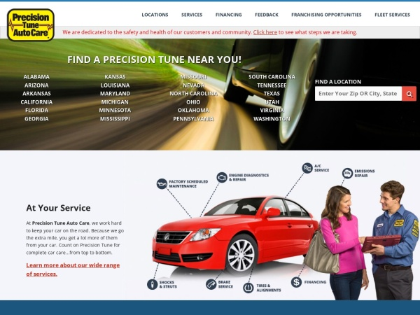 Screenshot of www.PrecisionTune.com