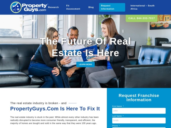 Screenshot of www.PropertyGuysFranchise.com