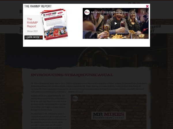 Screenshot of www.RAMMP.net