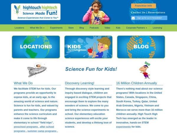 Screenshot of www.ScienceMadeFun.net