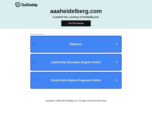 Screenshot of www.aaaheidelberg.com