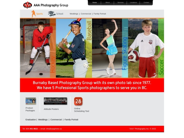 Screenshot of www.aaaphoto.ca