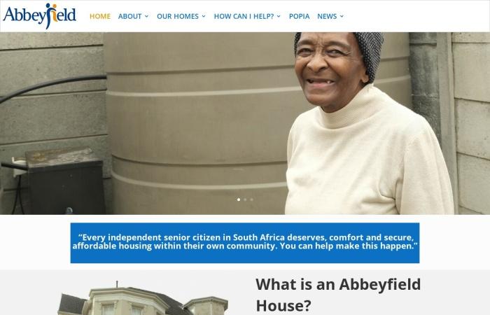 Screenshot of www.abbeyfield.co.za