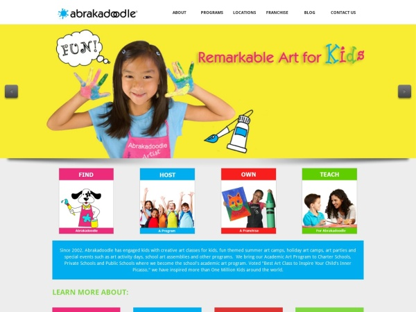 Screenshot of www.abrakadoodleinc.com
