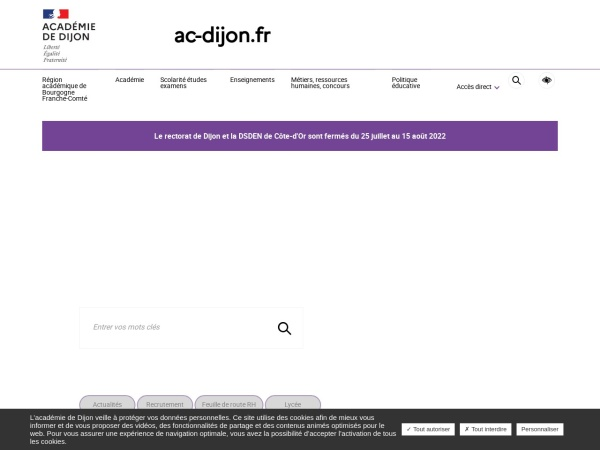 Screenshot of www.ac-dijon.fr