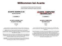 Screenshot von www.acanta.ch