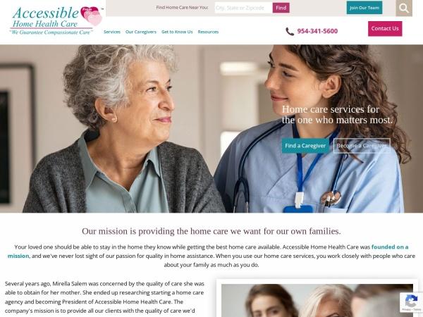 Screenshot of www.accessiblehhc.com