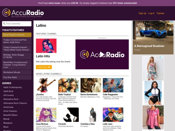 Latin Music - Listen to Free Radio Stations - AccuRadio