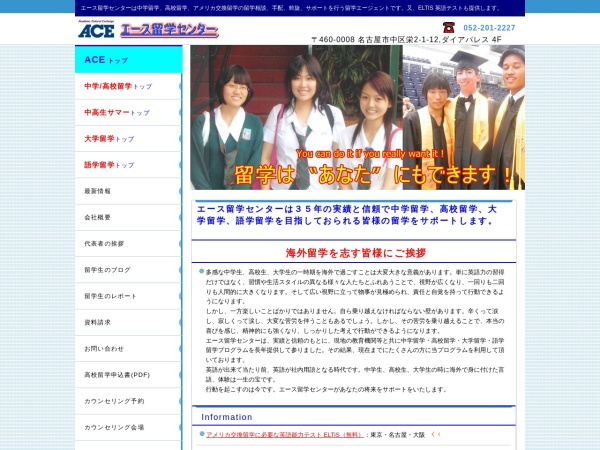 Screenshot of www.ace-nagoya.com
