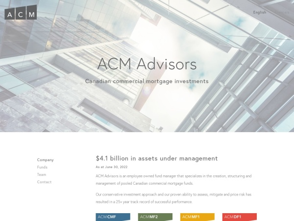 Screenshot of www.acma.ca