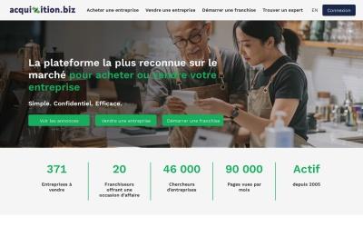 Screenshot of www.acquizition.biz