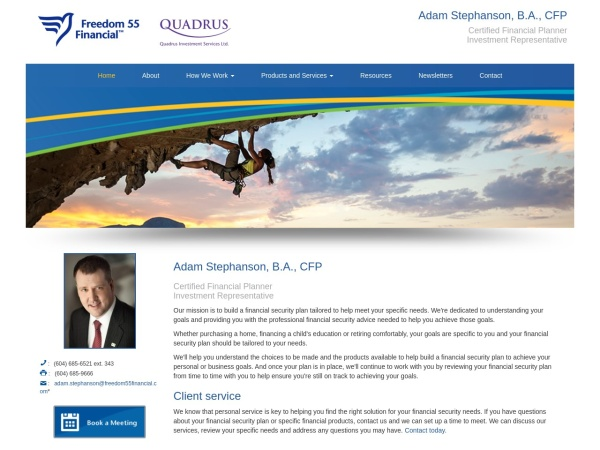 Screenshot of www.adam-stephanson.com
