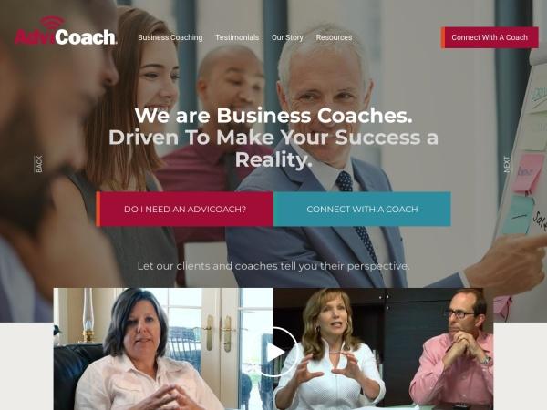 Screenshot of www.advicoach.com