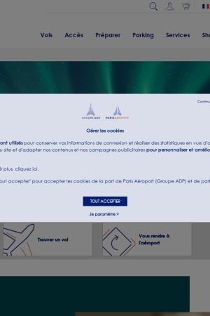 Screenshot of www.aeroportsdeparis.fr