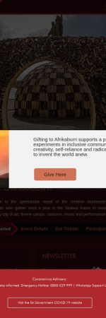 Screenshot of www.afrikaburn.com