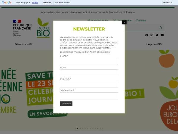 http://www.agencebio.org/