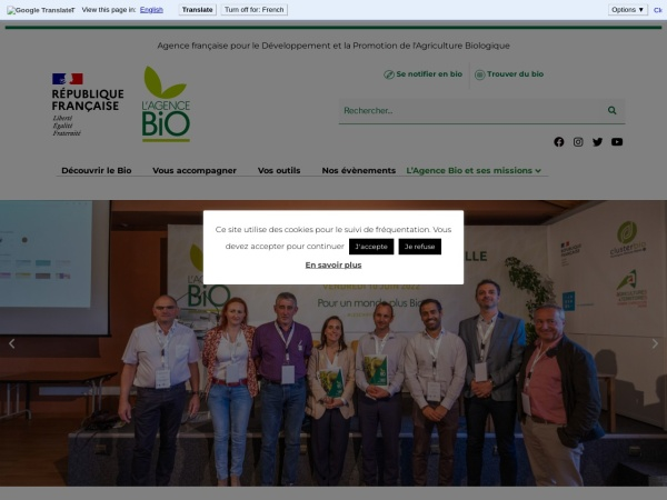 Screenshot of www.agencebio.org
