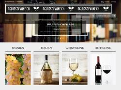 Screenshot of www.aglassofwine.ch