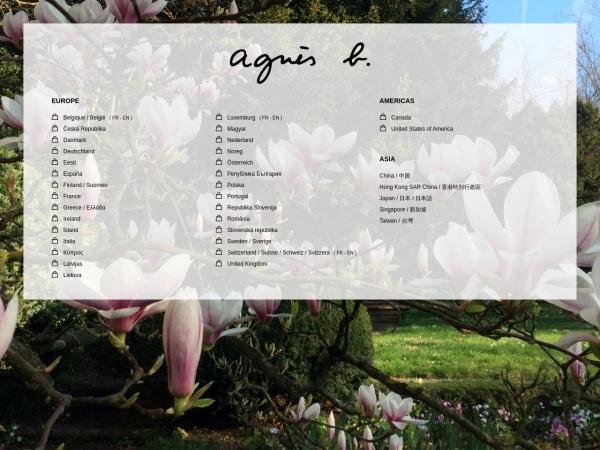 Screenshot of www.agnesb.com