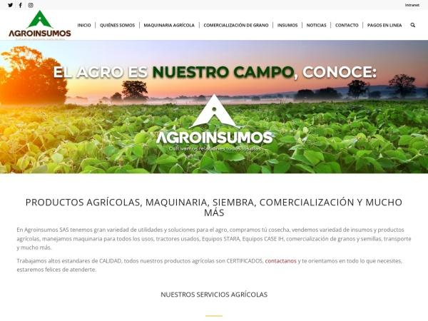 Captura de pantalla de www.agroinsumossa.com
