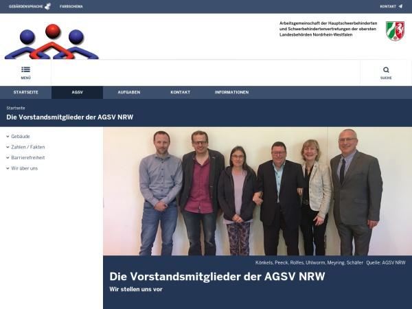 Screenshot von www.agsv.nrw.de