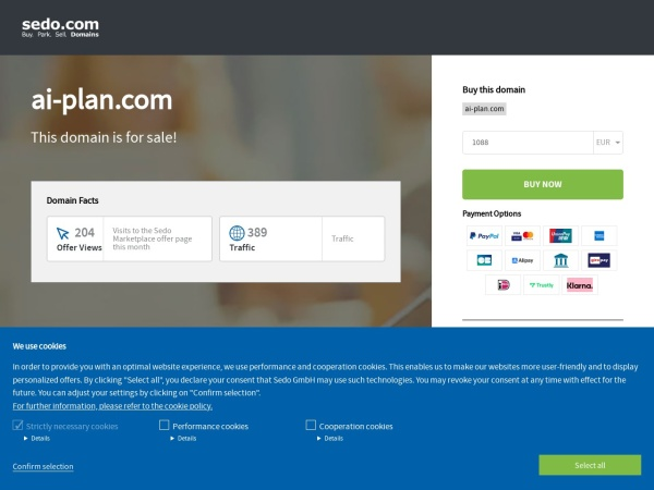 Screenshot of www.ai-plan.com