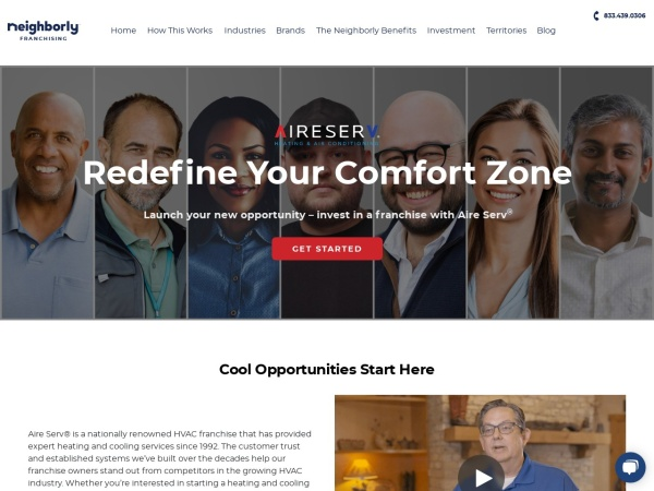 Screenshot of www.aireservfranchise.com