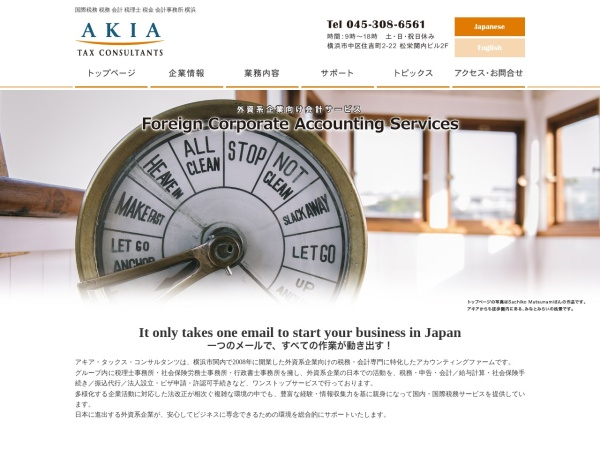 Screenshot of www.akia-tax.com