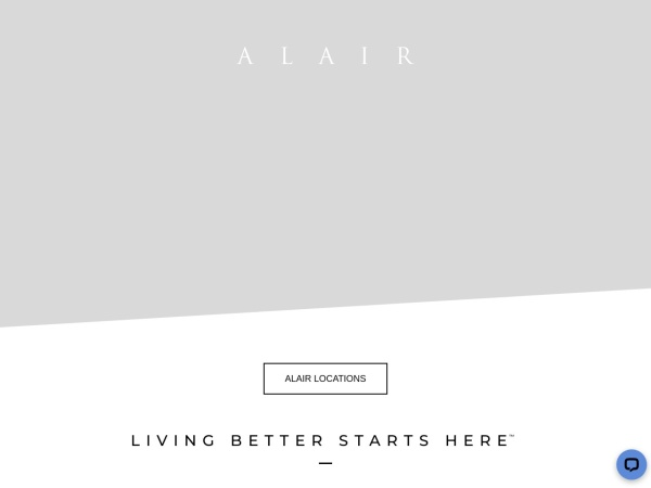 Screenshot of www.alairhomes.com