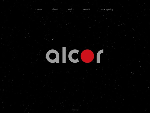 Screenshot of www.alcor.co.jp