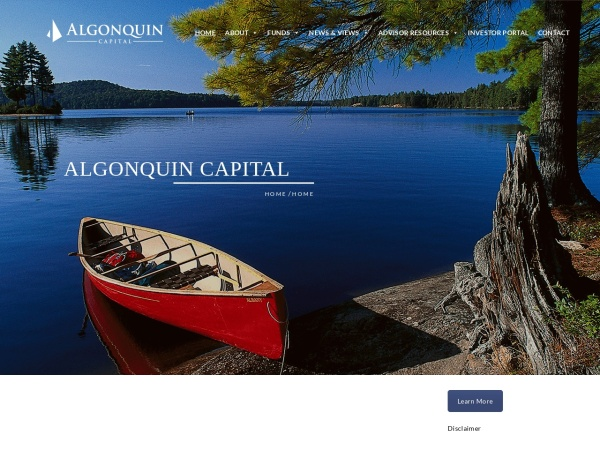 Screenshot of www.algonquincap.com