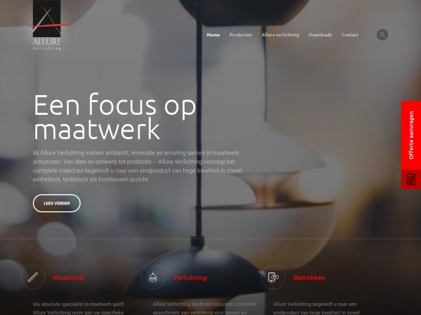 Screenshot of www.allureverlichting.nl