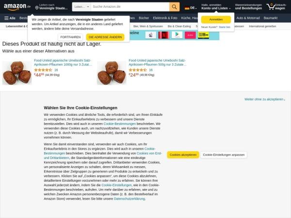 Screenshot of www.amazon.de