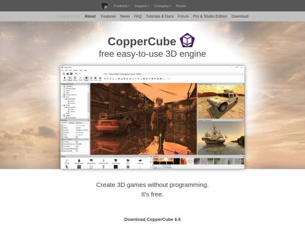 http://www.ambiera.com/coppercube/