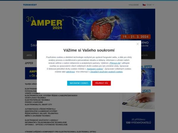 Screenshot of www.amper.cz