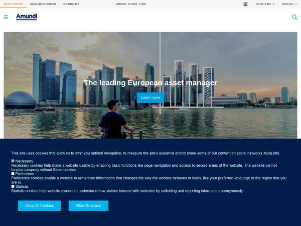 Screenshot of www.amundi.com