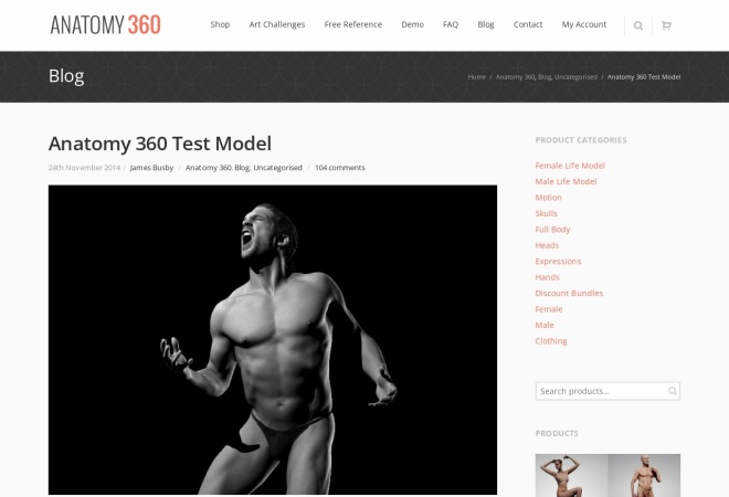 Screenshot of www.anatomy360.info
