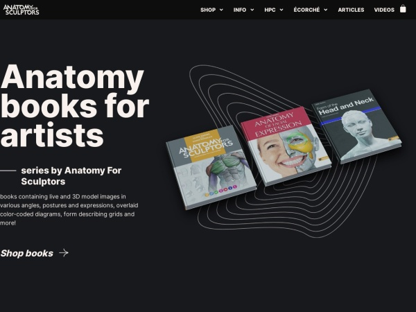 Screenshot of www.anatomy4sculptors.com