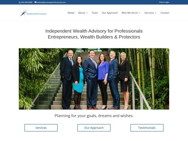 Screenshot of www.anchorpointfinancial.com