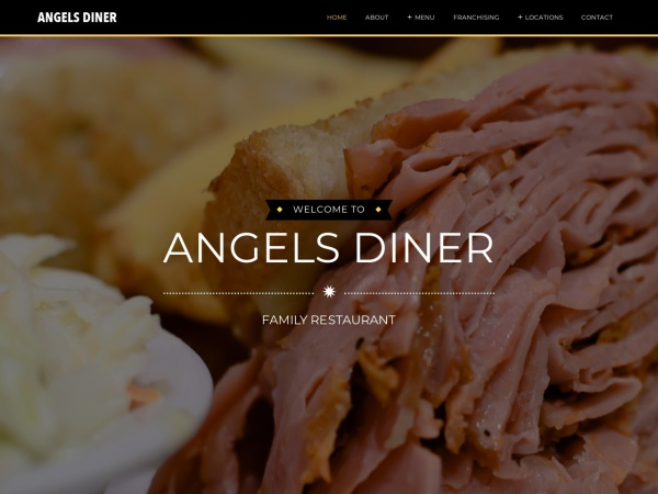 Screenshot of www.angelsdiner.ca